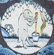 The Moon-Rabbit is also a symbol of fertility and immortality in ancient China.  This is embroidery on an 18th-Century Chinese Robe.