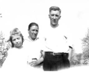 Lynn Howard Latta with Edith May and Martha Matilda Latta, circa 1920