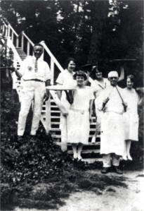 Lynn Latta, working as a chef, probably at Renehan Manor, on Round Lake, IL